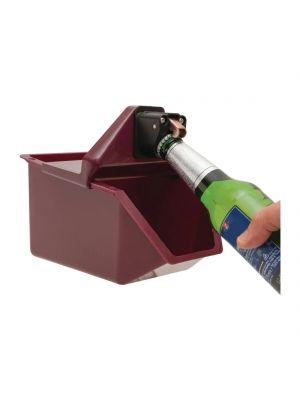 BEAUMONT Under Counter Bottle Opener w/ Catcher